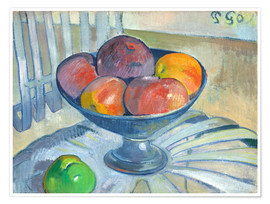 Premium poster Fruit bowl on a garden chair