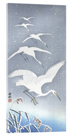 Acrylic print  Heron in the snow - Ohara Koson