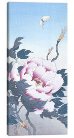 Canvas print  Peony with butterfly - Ohara Koson