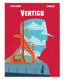 Poster Alternative Vertigo movie art print