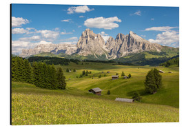 Alu-Dibond  Summer in the Dolomites - Michael Valjak