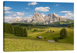 Canvas print  Summer in the Dolomites - Michael Valjak