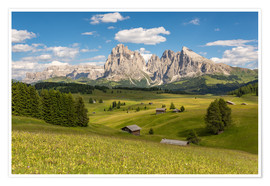 Premium poster  Summer in the Dolomites - Michael Valjak