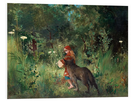 Foam board print  Little Red Riding Hood and the Wolf - Carl Larsson