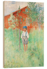 Wood print  Esbjorn by his own apple tree - Carl Larsson