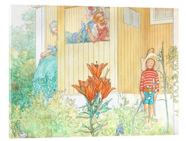 Acrylic glass  dressing up - Carl Larsson