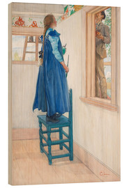 Wood print  Suzanne and another - Carl Larsson