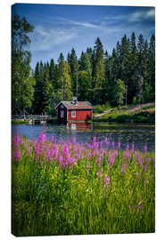 Canvas print  Sweden house on the lake - Sören Bartosch
