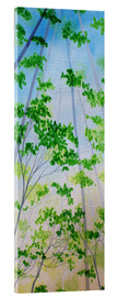 Acrylic glass  MISTY MORNING  FOREST - Herb Dickinson