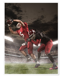 Premium poster  American Football Players in Action