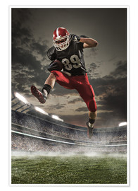 Premium poster  American Football Player in Action