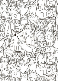 Colouring poster Cat pattern