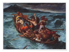Premium poster  Christ asleep during the storm - Eugene Delacroix