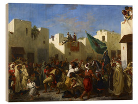 Wood print  The Fanatics of Tangier - Eugene Delacroix