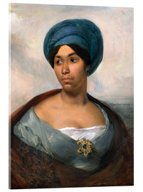 Acrylic glass  Woman in a Blue Turban - Eugene Delacroix