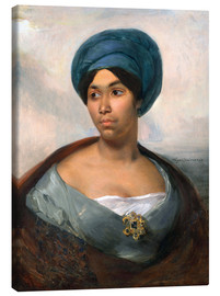 Canvas print  Woman in a Blue Turban - Eugene Delacroix