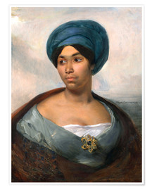 Premium poster Woman in a Blue Turban