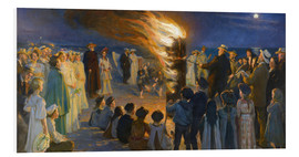 Foam board print  Midsummer night bonfires on the beach of Skagen - Peder Severin Krøyer