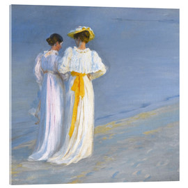 Acrylic print  Summer evening at Skagener Südstrand (detail) - Peder Severin Krøyer