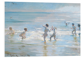 Peder Severin Kroyer - Boys bathing on a summer evening at Skagen Beach