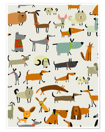 Premium poster  Dog breeds in all forms - Kidz Collection