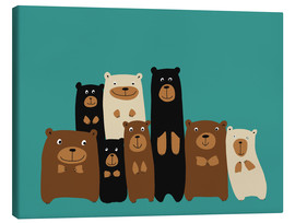 Canvas print  Bear friends - Kidz Collection