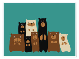 Premium poster Bear friends