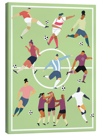 Canvas print  Team sport football - Kidz Collection