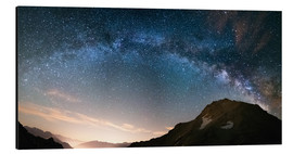 Fabio Lamanna - Milky Way arch and starry sky on the Alps. Panoramic view