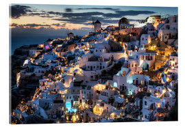 Acrylic print  Santorini, after sunset - Dennis Fischer
