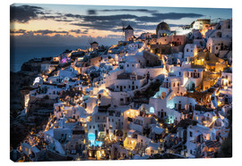 Canvas print  Santorini, after sunset - Dennis Fischer