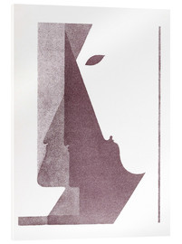 Acrylic print  Three profiles between the vertical and the diagonal - Oskar Schlemmer