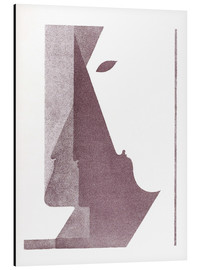 Aluminium print  Three profiles between the vertical and the diagonal - Oskar Schlemmer