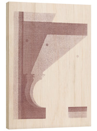 Wood print  Three profiles, the middle vertical - Oskar Schlemmer