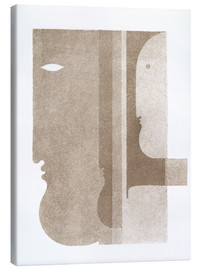 Canvas print  Two profiles to the left, one to the right - Oskar Schlemmer