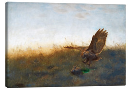Canvas print  Hunting A Hare - Bruno Andreas Liljefors