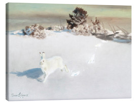 Canvas print  Winter landscape at Gardesgard - Bruno Andreas Liljefors