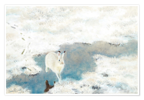 Premium poster Hare In Winter Landscape