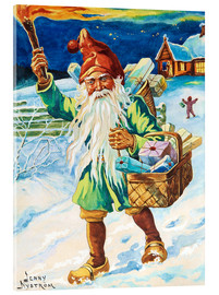 Acrylic print  Gnome with torch - Jenny Nyström