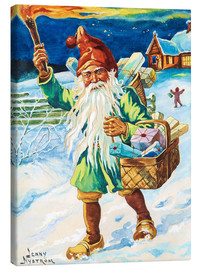 Canvas print  Gnome with torch - Jenny Nyström