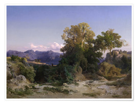 Premium poster  Landscape in the Alban Hills - Arnold Böcklin