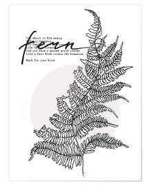 Premium poster Wait for your time like a Fern