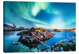 Canvas print  Northern Lights in Northern Norway (Senja Island) - Sascha Kilmer