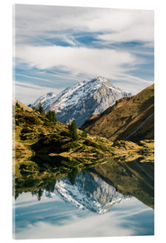 Acrylic print  Trüebsee mountain lake with Schlossberg mountain peak at Titlis Engelberg in Switzerland at fall - Peter Wey