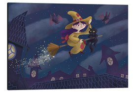 Aluminium print  Little witch - Leonora Camusso
