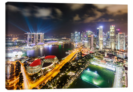 Canvas  Singapore skyline and Marina Bay Sands - Matteo Colombo