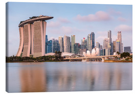 Canvas  Singapore skyline at sunrise - Matteo Colombo