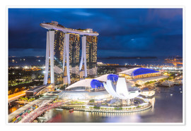 Premium poster  Luxury hotel Marina Bay Sands, Singapore - Matteo Colombo