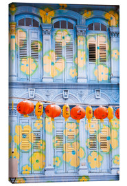 Canvas  Painted shutters in Chinatown, Singapor - Matteo Colombo