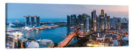 Canvas  Singapore skyline panoramic at sunset - Matteo Colombo